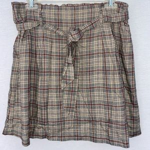 PLAID AMERICAN EAGLE SKIRT
